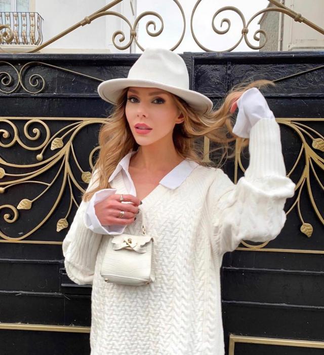 "Palarie Alba Handmade ""Christian Dior"" [25]"