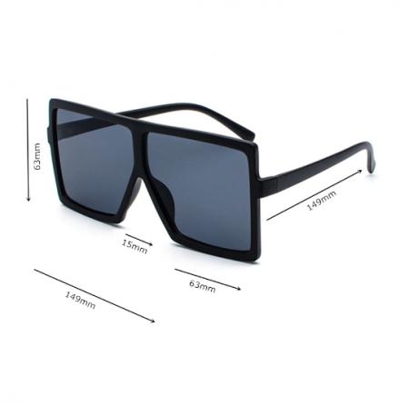 Ochelari de Soare Unisex Supradimensionati Negri1