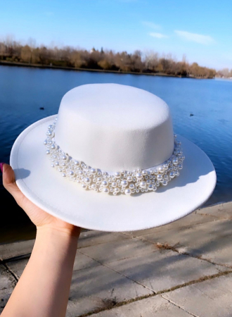 Canotiera Alba Handmade cu bentita detasabila cu perle Luxury0