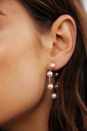 Cercei rotunzi cu perle - diametru 5 cm2