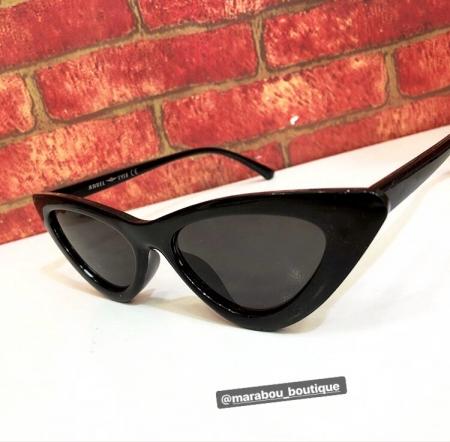 Ochelari de Soare Negri Super Cat Eye9