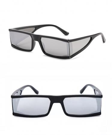 Ochelari de Soare Punk Argintii - Negri0