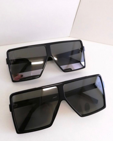 Ochelari de Soare Unisex Supradimensionati Negri [0]