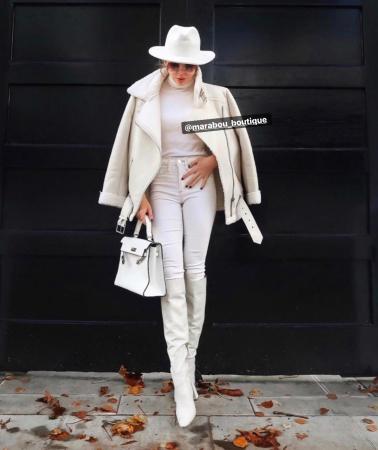 Palarie Alba Handmade cu funda si accesoriu la alegere8