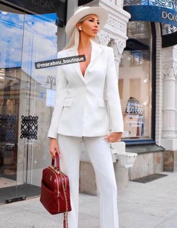 Palarie Alba Handmade cu bentita detasabila cu perle24
