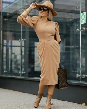 Palarie Bej Handmade cu bentita detasabila din piele14