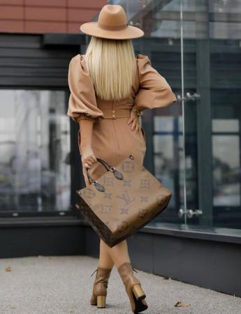 Palarie Bej Handmade cu bentita detasabila si stea [17]