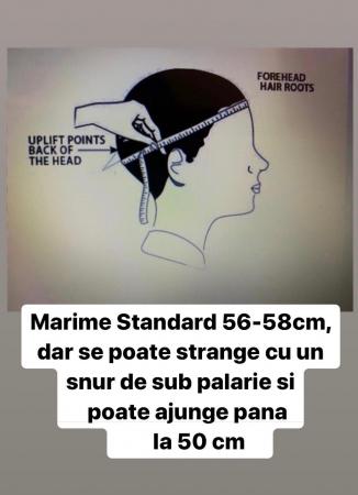 Palarie Blue Marine Handmade cu bentita detasabila de Piele Maro3