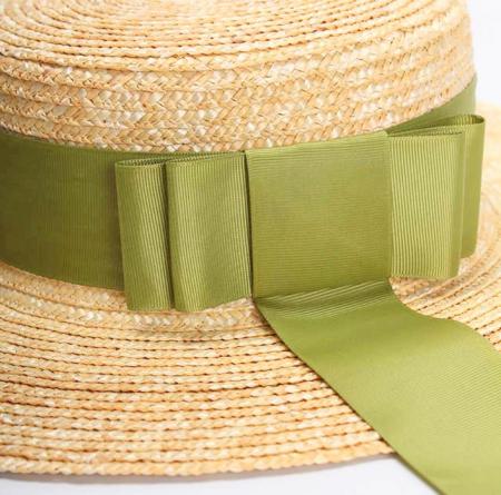 Palarie de Soare Handmade din paie cu bentita detasabila si accesoriu la alegere8