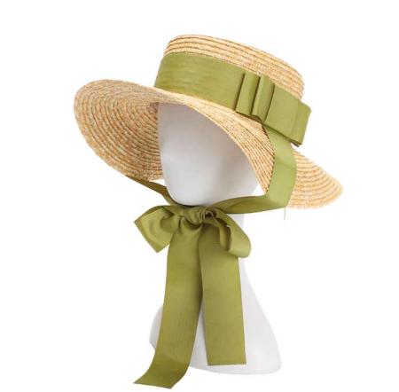 Palarie de Soare Handmade din paie cu bentita detasabila si accesoriu la alegere3