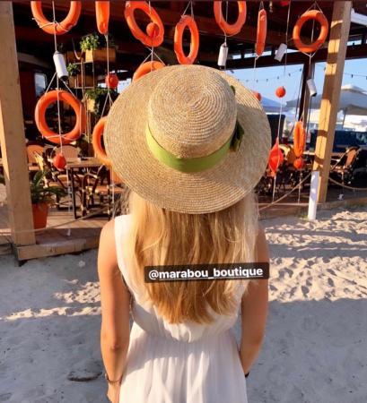 Palarie de Soare Handmade din paie cu bentita detasabila si accesoriu la alegere14