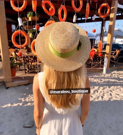 Palarie de Soare Handmade din paie cu funda si albina5