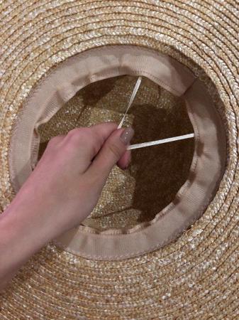 Palarie de Soare Handmade din paie cu bentita detasabila cu Perle Luxury9