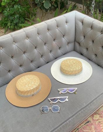 Palarie de Soare Handmade din paie in 2 culori2