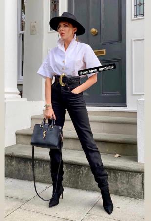 Palarie Neagra Handmade cu bentita detasabila si stea4