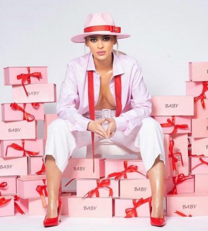 Palarie Roz Handmade cu bentita detasabila cu perle10