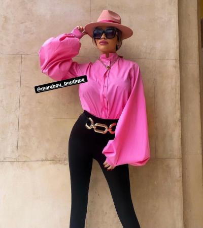 Palarie Roz Handmade cu bentita detasabila cu perle2
