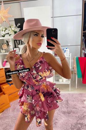 "Palarie Roz Handmade ""Christian Dior"" [27]"
