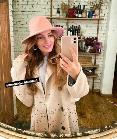 Palarie Roz Handmade cu bentita detasabila si brosa la alegere [12]