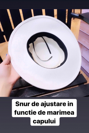 Palarie Unisex Neagra Handmade cu Bor Lat si bentita detasabila cu accesoriu la alegere11