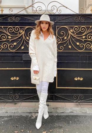 "Palarie Alba Handmade ""Christian Dior"" [35]"