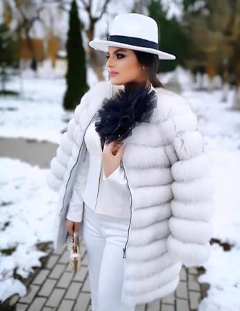 "Palarie Alba Handmade ""Christian Dior"" [18]"