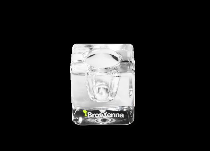 Pahar sticla pentru mix henna & vopsea BrowXenna 1