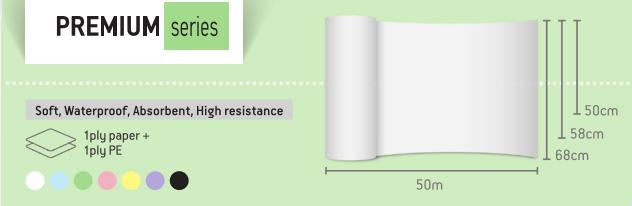Rola cearceaf pat IMPERMEABILA laminata de unica folosinta 58cm X 50m [2]