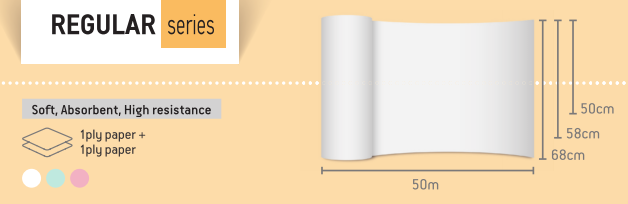 Rola cearceaf pat HARTIE de unica folosinta 58cm X 50m [1]