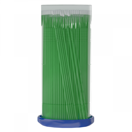 Micro perii - green microbrushes 1mm (S) 100buc [1]