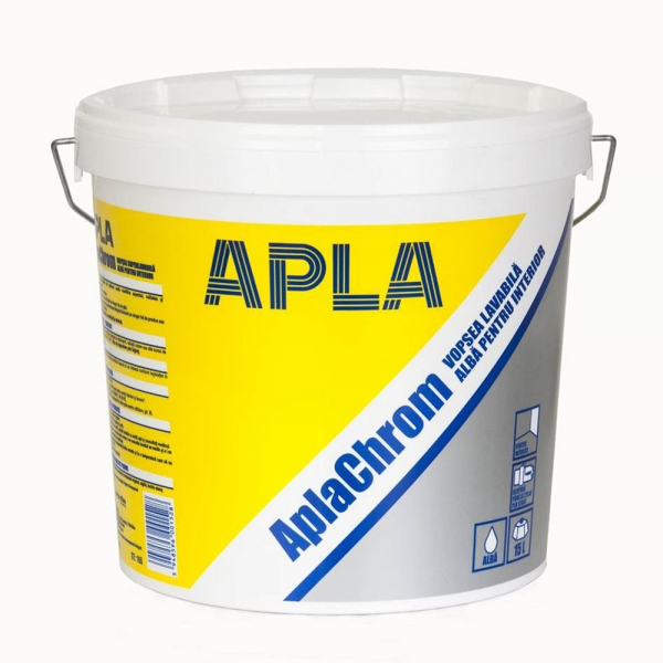 Vopsea AplaCrom lavabila alba, pentru interior 25L [0]