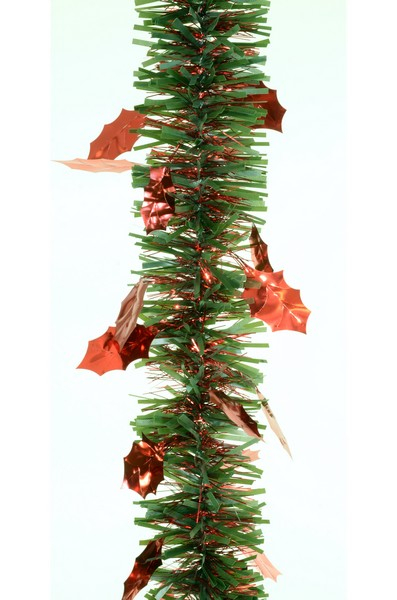 Beteala Agrifoglio Max 75mm verde cu frunze rosii [0]