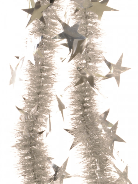 Beteala argintie six-ply cu stele mari 30 mm [0]