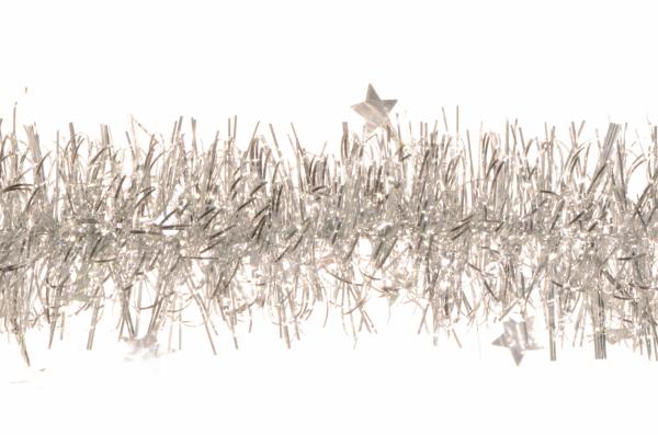 Beteala cu stele diametru 75 mm lungime argintiu [0]