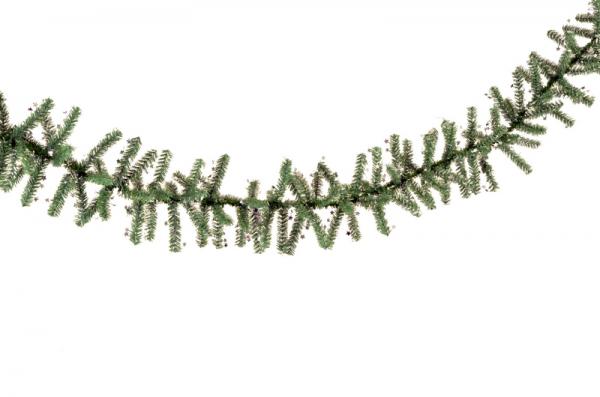 Ghirlanda Minicosmos verde cu stele argintii 200 mm 1