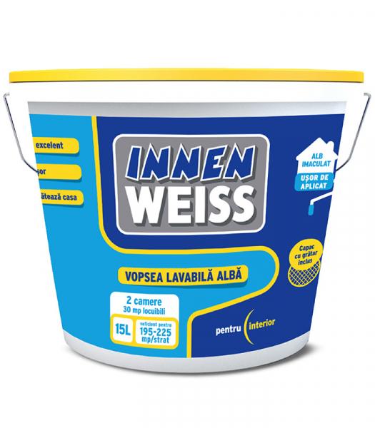 Vopsea lavabila Innenweiss alba, pentru interior 15L 0