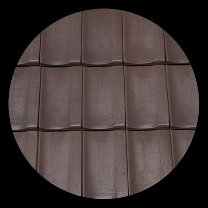 Tigla Kontinental Lux 415x260mm glazurata maro 1
