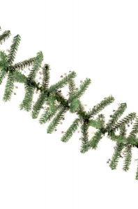 Ghirlanda Minicosmos verde cu stele argintii 200 mm3