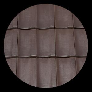 Tigla Kontinental Lux 415x260mm glazurata maro1