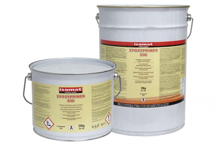Grund epoxidic bicomponent pe baza de apa Epoxyprimer 500, Isomat, 20 kg 0