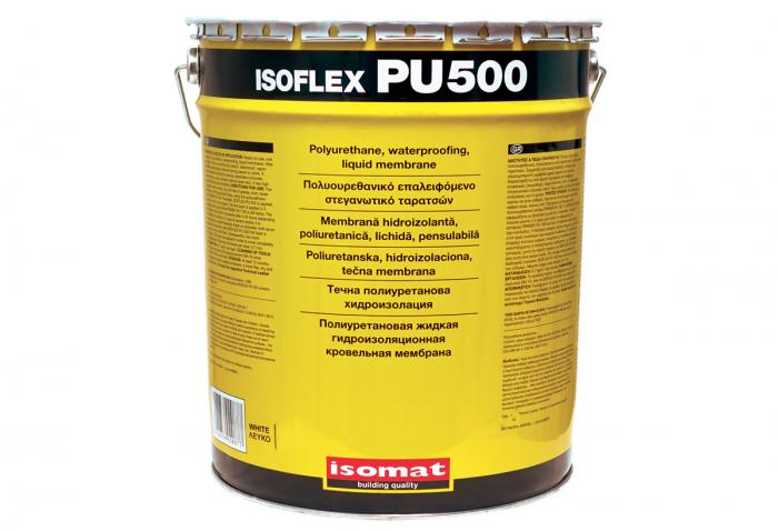 Membrana hidroizolanta lichida poliuretanica monocomponenta pentru terase, Isomat, Isoflex Pu 500, gri, 1 kg 0