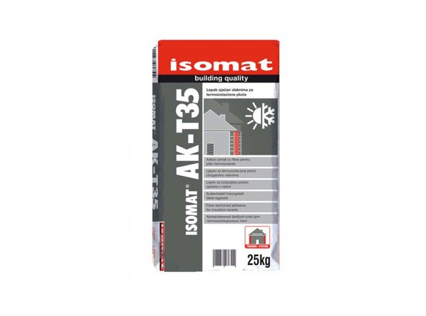 Adeziv si masa de spaclu, pentru placi termoizolante Ak-T35, Isomat, 25 kg, alb 0