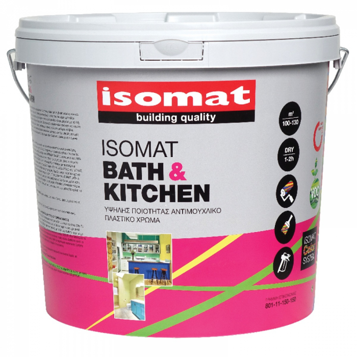 Vopsea antimucegai Isomat Bath&Kitchen, Alb, 10L 0