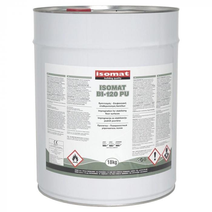 Impregnant stabilizator transparent poliuretanic pentru pardoseli din beton si sape, Isomat Bi-120 pu,18kg 0