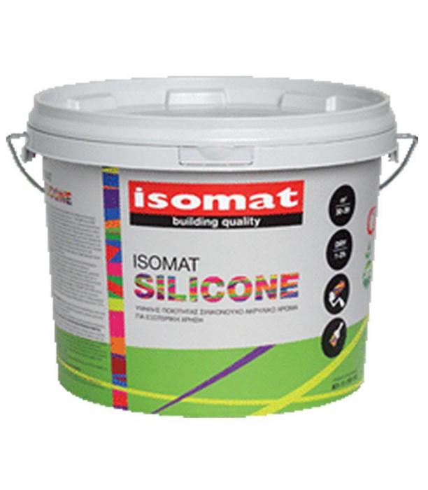 Vopsea siliconica pentru exterior de calitate superioara, ISOMAT SILICONE, 10L, alb 0