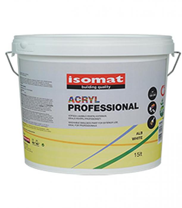 Vopsea acrilica pentru exterior, ISOMAT ACRYL PROFESSIONAL, alb, 15L 0
