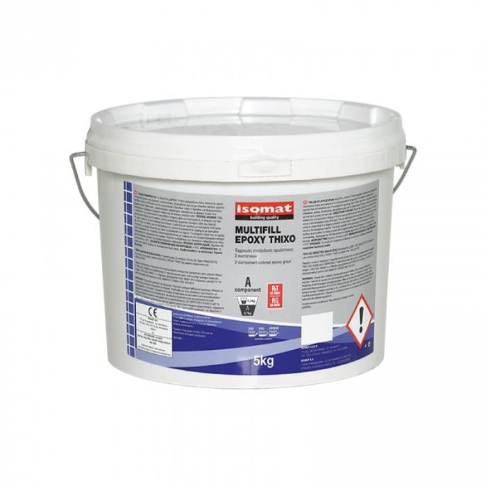 Chit de rosturi si adeziv epoxidic bicomponent pentru placi Multifill Epoxy Thixo, Isomat, bej, 3kg 0