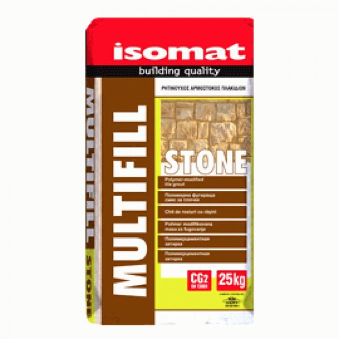 Mortar pe baza de ciment pentru zidaria si rostuirea pietrelor Multifill Stone, Isomat, 25 kg [0]