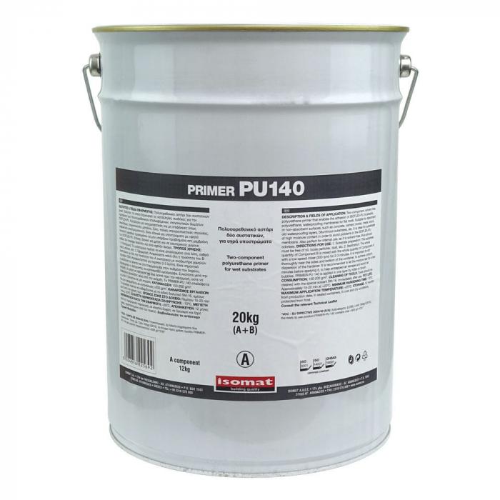 Amorsa poliuretanica, bicomponenta fara solventi Primer pu 140, Isomat, 20 kg [0]