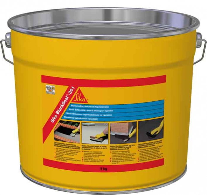 Mastic bituminos Sika BlackSeal 301, 5 kg 0